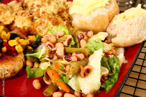 Fotografering  Black Eye Pea Salad