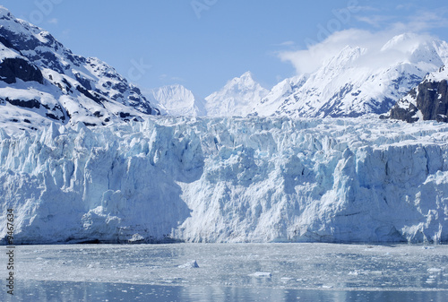 The majestic glacier in Glacier Bay national park, Alaska.