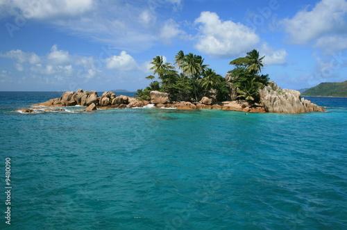 îlot saint pierre aux Seychelles, véritable paradis terrestre Poster Mural XXL