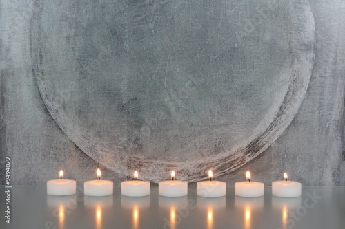 Doppelrollo mit Motiv - Kerzen