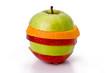 Sliced fruit ing the shape of an apple
