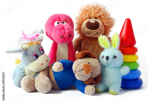 Children's toys on a white background it is isolated