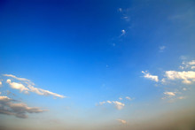 Spring Sky With White Clouds