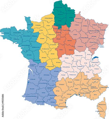 carte de france avec régions Carte de france avec régions   Buy this stock vector and explore
