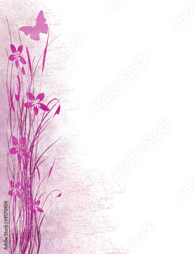 Canvas Prints Butterflies in Grunge Pink Reeds