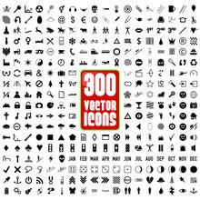 Icons Black (300)
