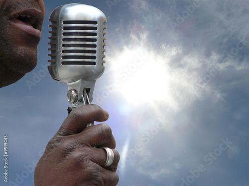 chanteur de gospel Fototapete