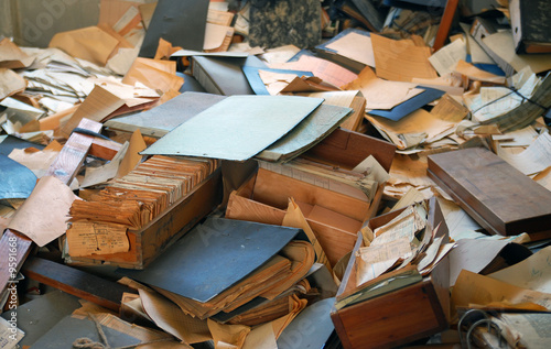 Valokuva  Akten, Papier, durcheinander