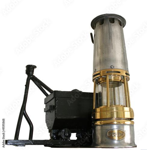 Lampe de mineur avec chariot charbon
