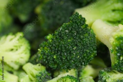 detalle macro de brocoli
