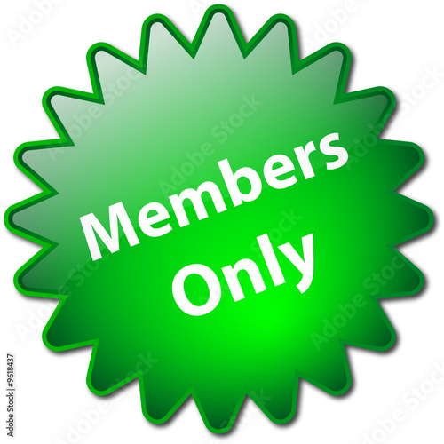 """Photographie  """"Members Only"""" stamp"""