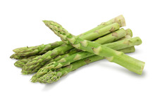 Asparagus Isolated On White Ba...
