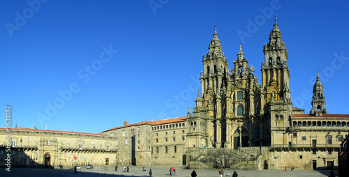 Canvas Print Santiago de Compostela Cathedral. Unesco world heritage.