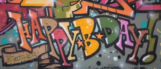 Panel Szklany Graffiti Graffiti Streetart Berlin