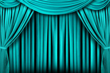 Beautiful Teal Indoor Theater Stage Background