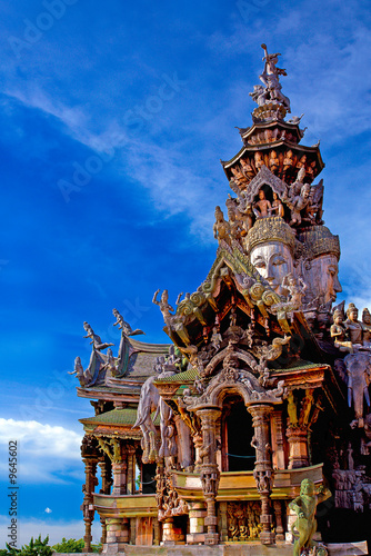 Fotografie, Obraz Attraction is Pattaya the sanctuary of truth THAILAND