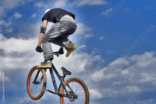 MTB racer jumping