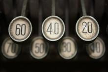 Tastatur Einer Alten Registrierkasse - Cash Register Key