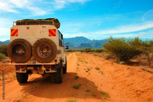 Staande foto Afrika Road from Lake Turkana to Maralal