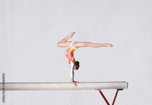 Poster Balance beam