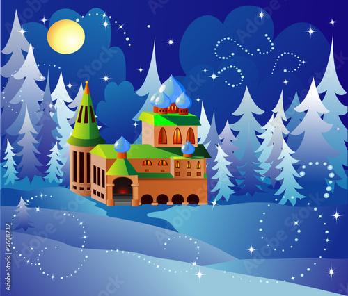 Poster Castle Santa house