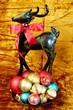 canvas print picture - Colorful Chrismas tree ornaments
