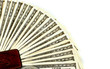 canvas print picture - One hundred dollar bills fanned from a money clip