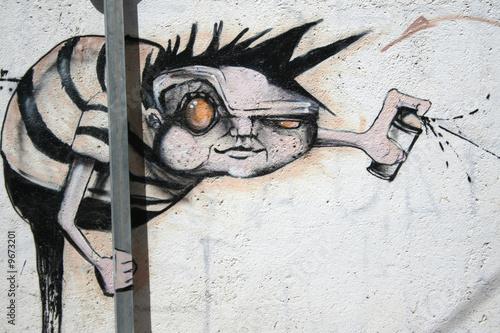 graffitero vandalismo. arte urbano