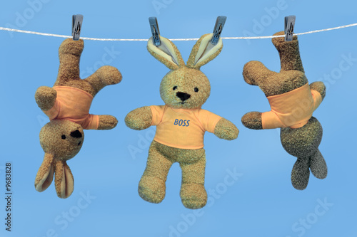 Toys on a linen cord #9683828