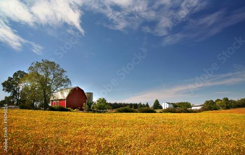 Aluminium Prints Autumn Scenic Farm Landscape