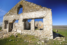 Ruins Of  Old House,  Thrown Village, Spring Day