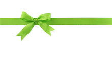 Green Bow Isolated On White Ba...