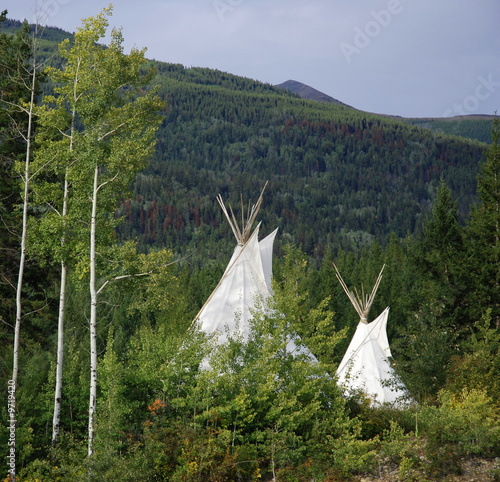 Poster Indiens Tepee