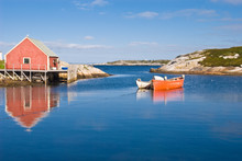 Fisherman's House And Boats In...