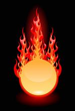 Vector Illustration Of A Fire Frame