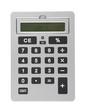 Business Calculator With Grey Buttons, Display, White Background