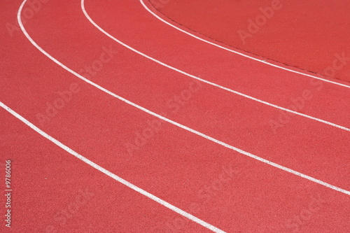 Fotografia  Curve of the running track