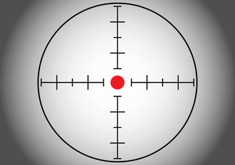 Gray sniper target. Vector illustration.