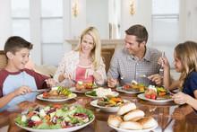 Family Enjoying Meal,mealtime ...