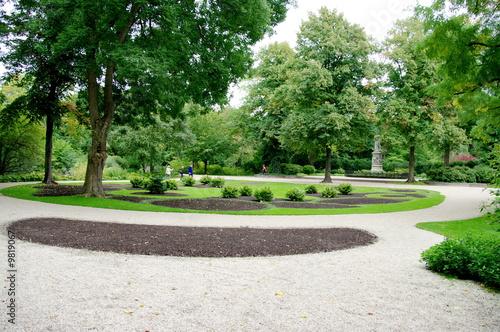 Allées dans un parc public, Allemagne.