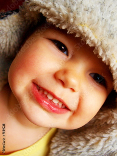 Photo  The child in a winter cap