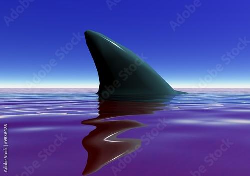 aileron de requin sanguinaire Wallpaper Mural