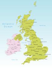 United Kingdom And Ireland Vec...