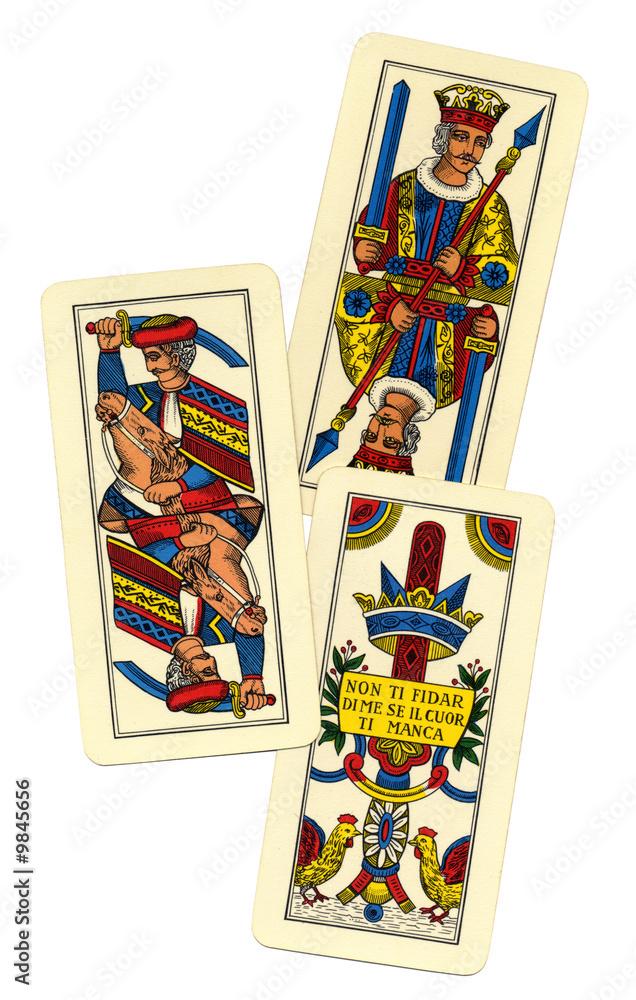 Asso di spade carte trevigiane
