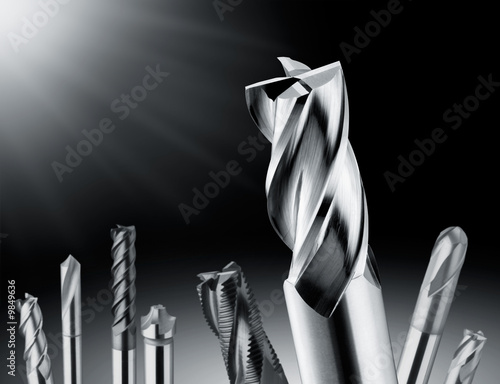 Obraz close up shot of a drill bit - fototapety do salonu