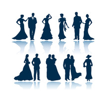 Evening Vector Silhouettes