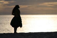 Hula Dancer Of The Seaside