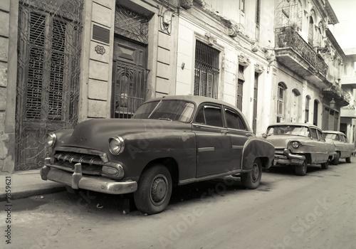 Türaufkleber Autos aus Kuba Old American cars in Havana Cuba