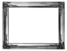 Old Antique Silver Frame Over ...