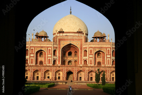 Poster India Entrance to Humayun's tomb in delhi, india